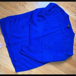 Royal blue wool sweater by JCrew
